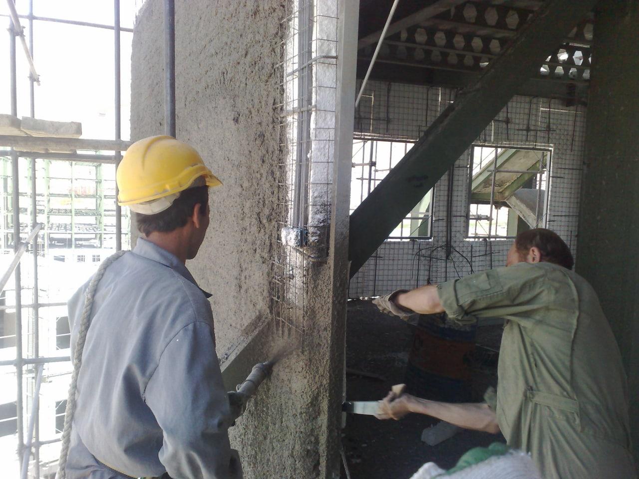 شاتکریت بتنی ساختمان